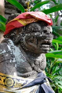 Ubud paleis - een van de wachters?